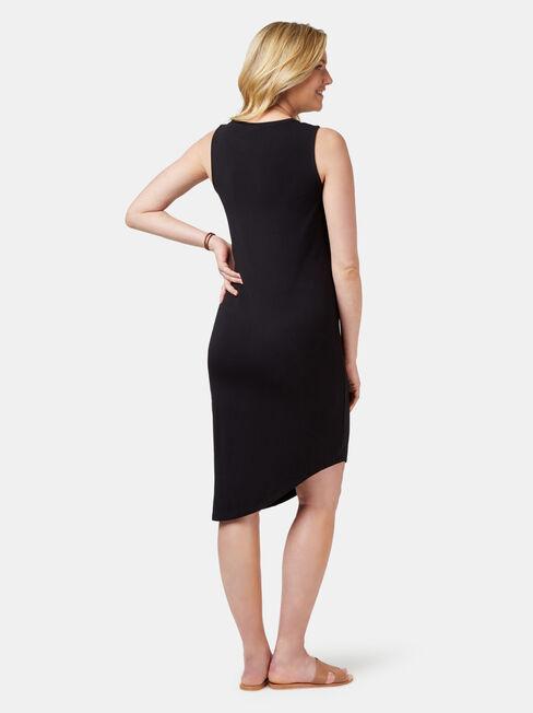 Clara Maternity Dress, Black, hi-res