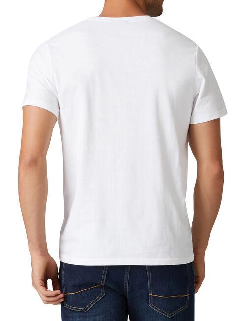 Dexter Short Sleeve Print Crew Tee, White, hi-res
