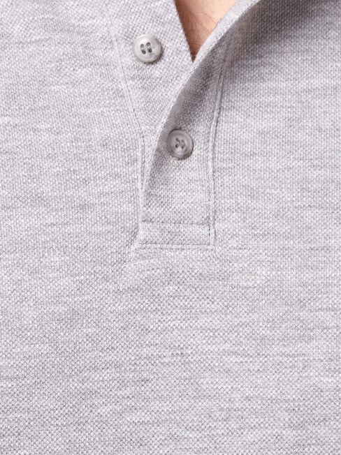 Jacob Short Sleeve Polo, Grey, hi-res