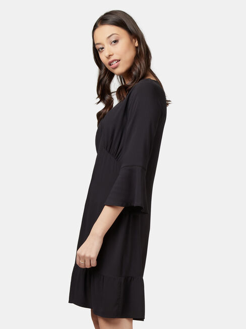 Jordyn Ladder Dress, Black, hi-res