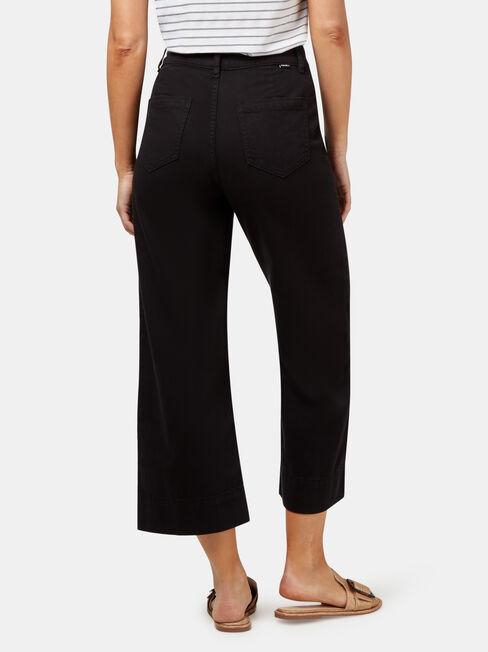 Cara Double Button Wide Leg Jean, Black, hi-res