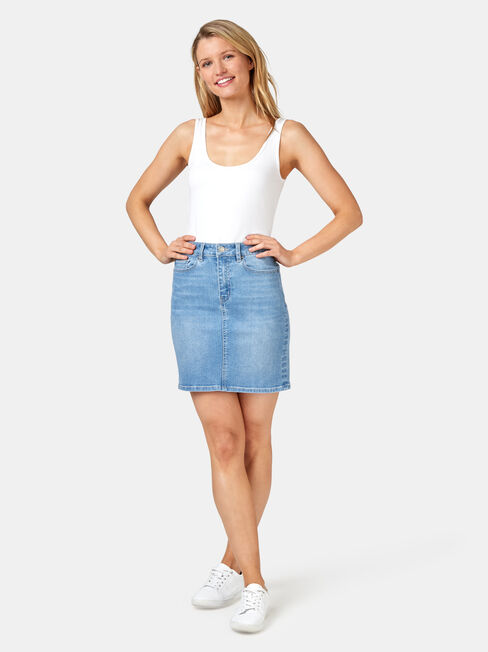 Mariah Classic Denim Skirt