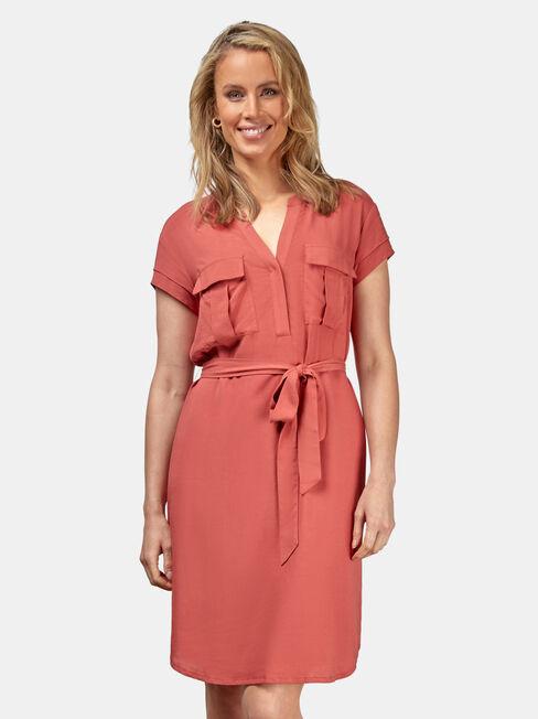 Lily Shift Dress, Orange, hi-res