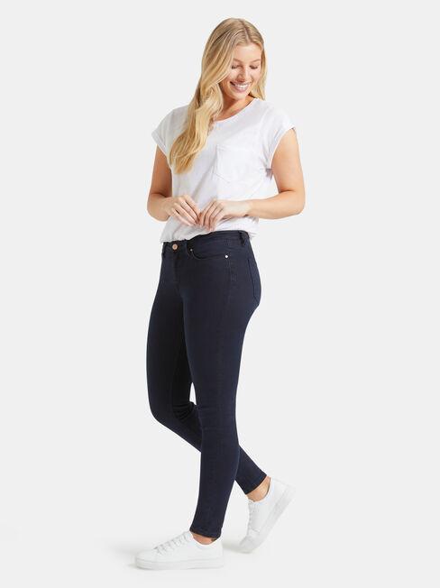 Curve Embracer Skinny Jeans Indigo Ink