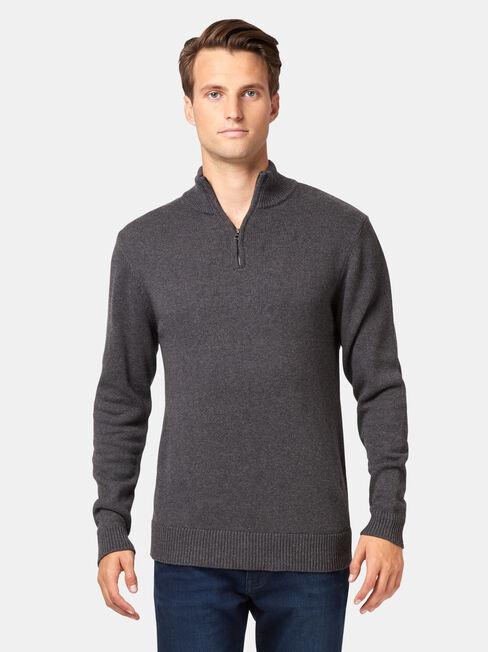 Ryder Funnel Neck Knit, Grey, hi-res