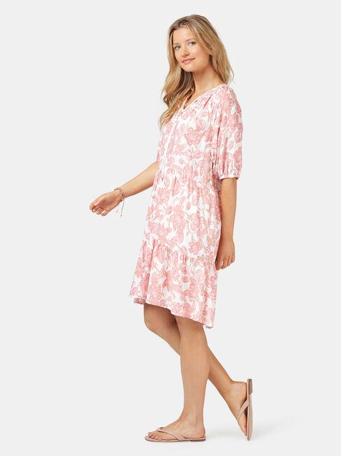 Jasmine Tiered Beach Dress, Print, hi-res