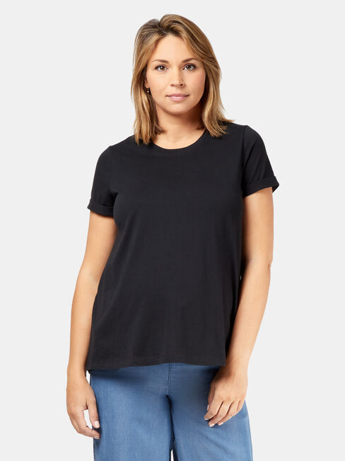 Frances Baby Bump Tee, Black, hi-res