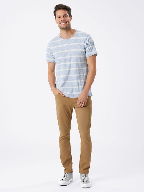 Slim Tapered Jeans Tobacco, Coloured, hi-res