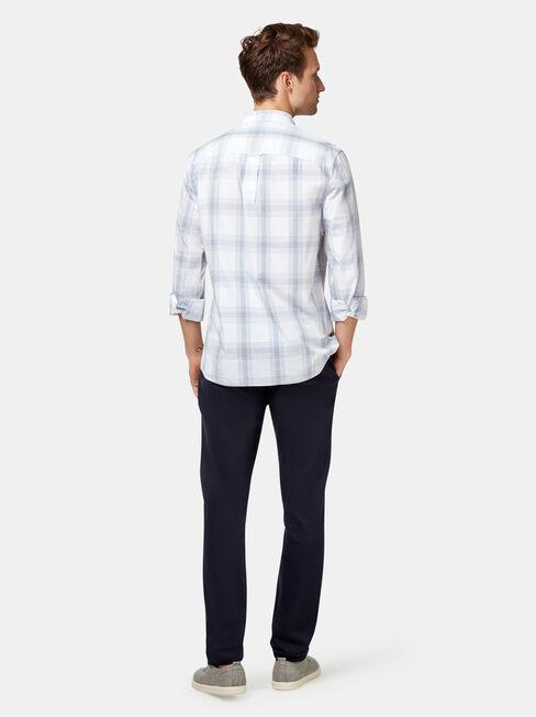 Jett Long Sleeve Check Shirt, White, hi-res