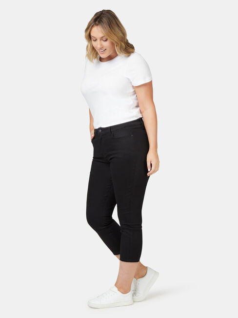 Kara Curve Embracer Skinny Capri Black, Black, hi-res