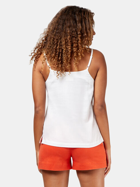 Norah Embroided Cami, White, hi-res