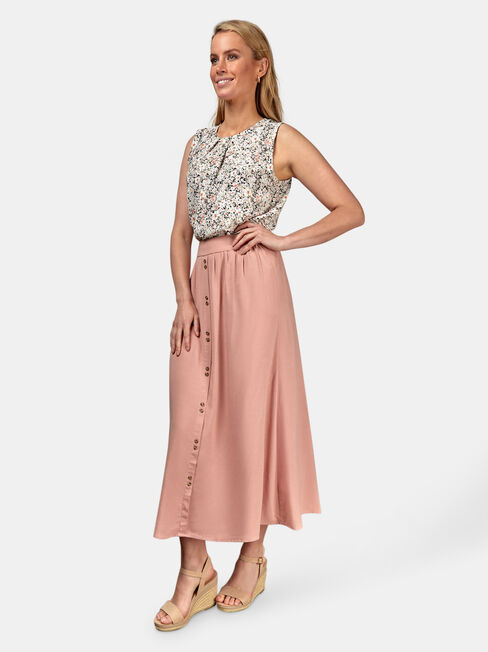 Gabriella Soft Skirt, Pink, hi-res
