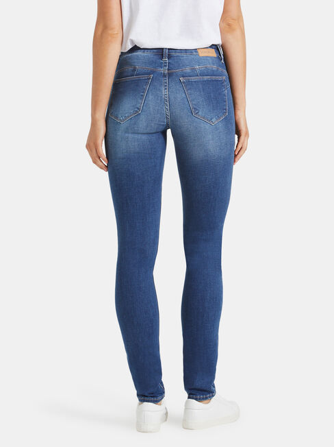 Butt Lifter Skinny Jeans Mid Sapphire, Mid Indigo, hi-res