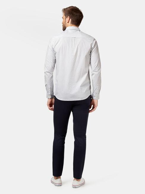 Oscar Long Sleeve Print Shirt, White, hi-res