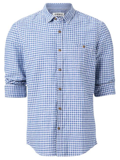 LS Barkley Check Shirt, Blue, hi-res