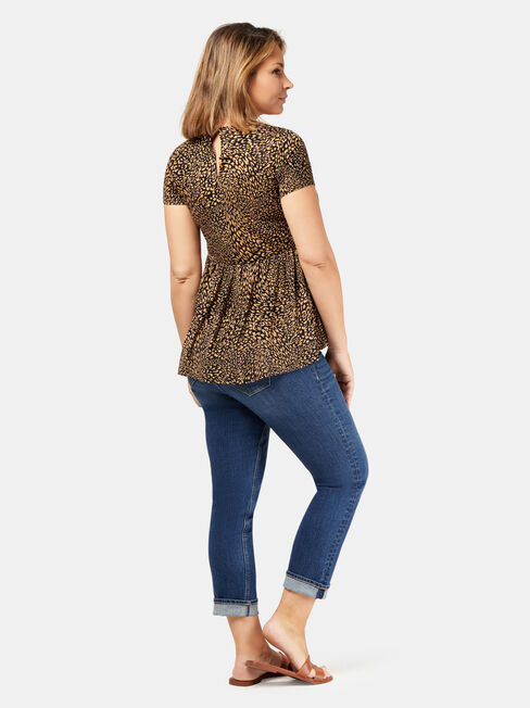 Robyn Tiered Maternity Top, Brown, hi-res