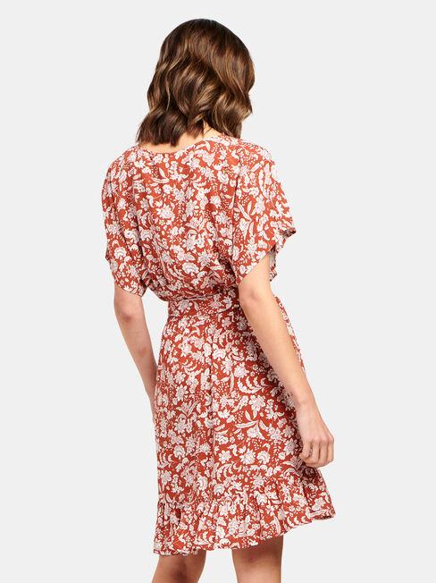 Harper Tiered Dress, Brown, hi-res
