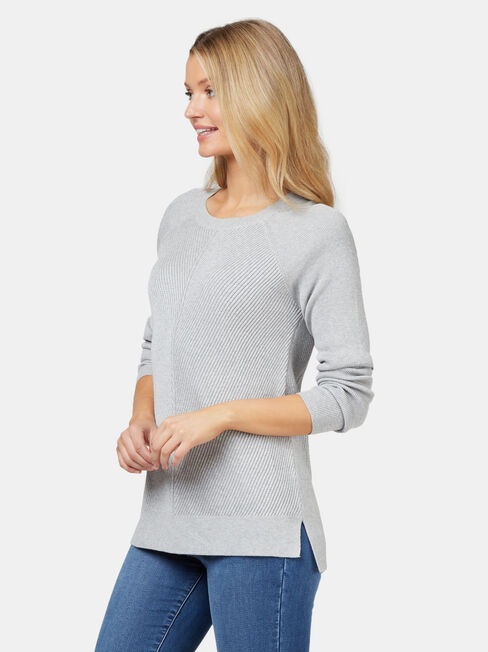 Catalina Chevron Pullover, Grey, hi-res