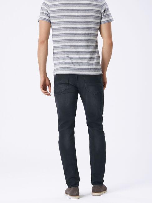 Schwinn Slim Tapered Knit jeans, Black, hi-res