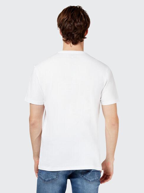 Nole Short Sleeve Print Crew Tee, White, hi-res