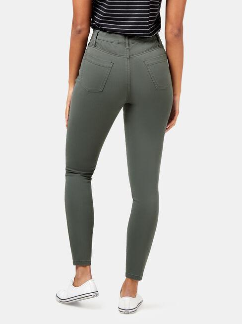 Veronica High Waist Pant, Green, hi-res