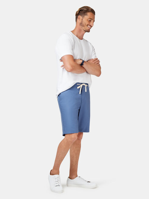 Jones Tie Front Short, Blue, hi-res