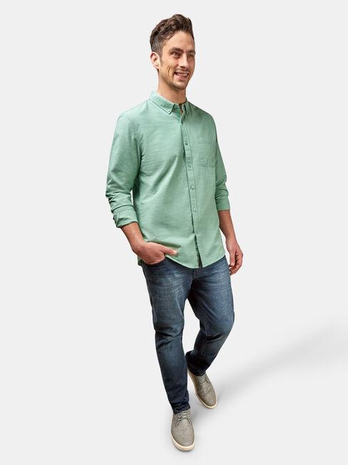 Bennett Long Sleeve Textured Shirt, Blue, hi-res