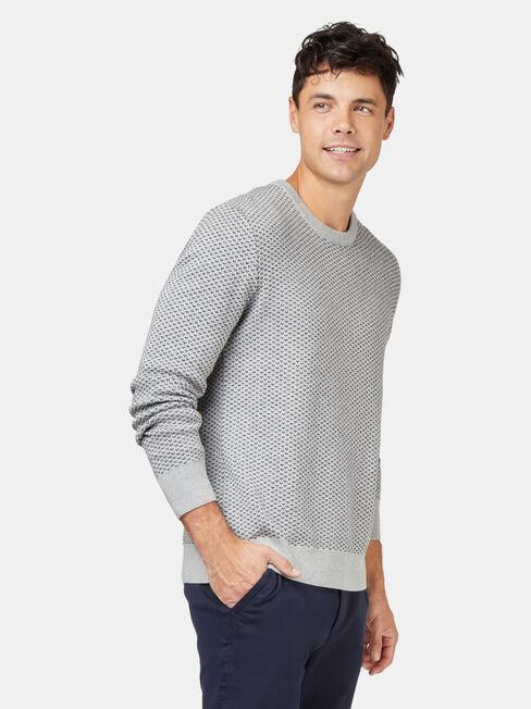 Bailey Crew Neck Knit, Grey, hi-res