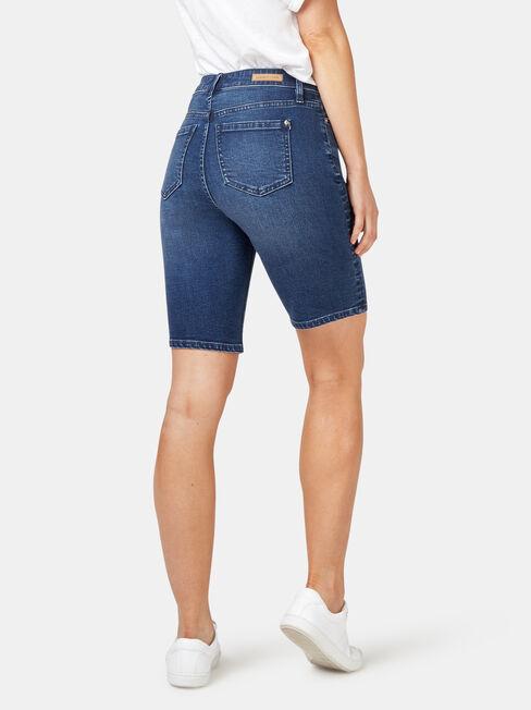 Talia Knee Length Short, Blue, hi-res