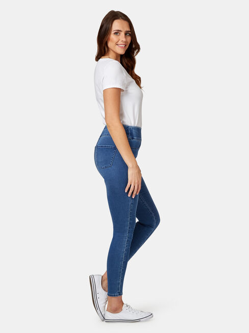 Tummy Trimmer Luxe Lounge Skinny Jeans Mid Indigo, Mid Indigo, hi-res