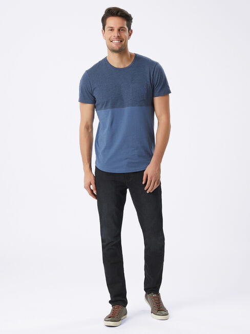 Slim Tapered Jeans Coal Wash, DeepWash, hi-res