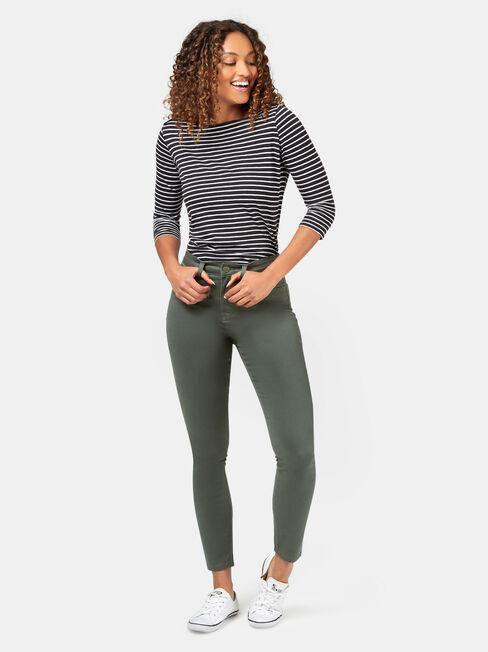 Ella Skinny Pant, Green, hi-res