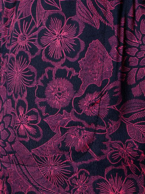 Maya Soft Printed Short, Pink, hi-res