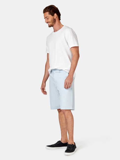 Luke Textured Chino Short, Blue, hi-res