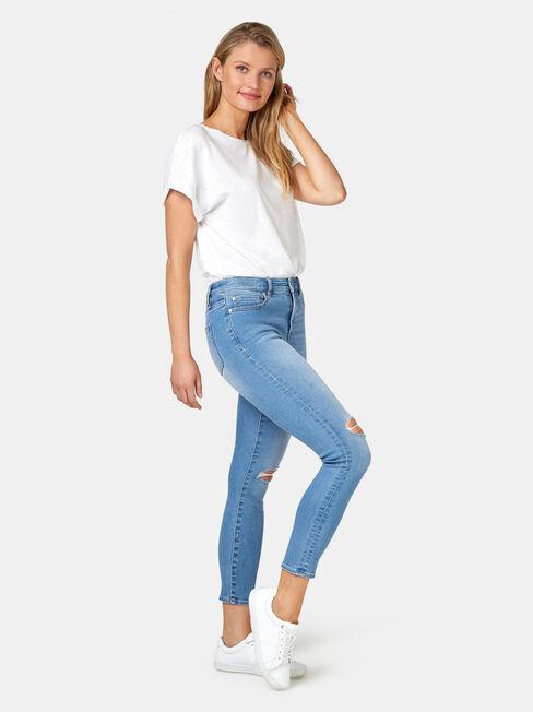 Eleanor Mid Waist Skinny Crop Jeans, Light Indigo, hi-res