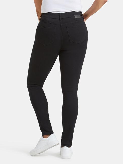 Tummy Trimmer Skinny Jeans Black Night, Black, hi-res