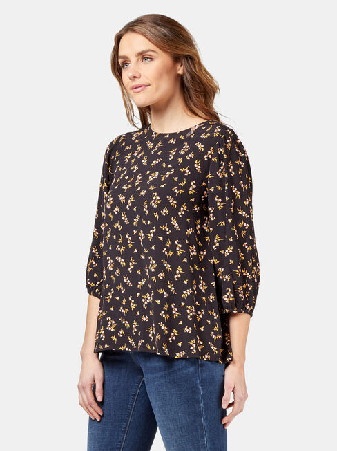 Bex Blouse, Black, hi-res