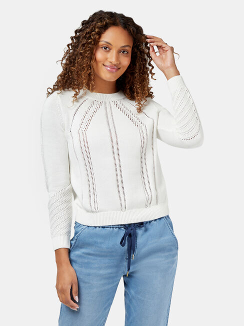 Honor Pullover, White, hi-res