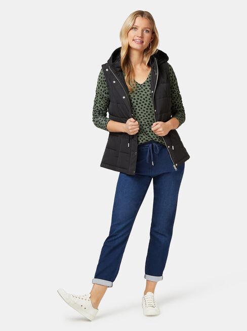 Alice Soft Touch V-Neck Pullover, Green, hi-res