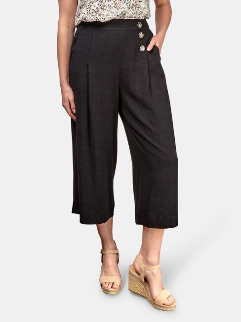 Naomi Wide Leg Crop Pant, Black, hi-res