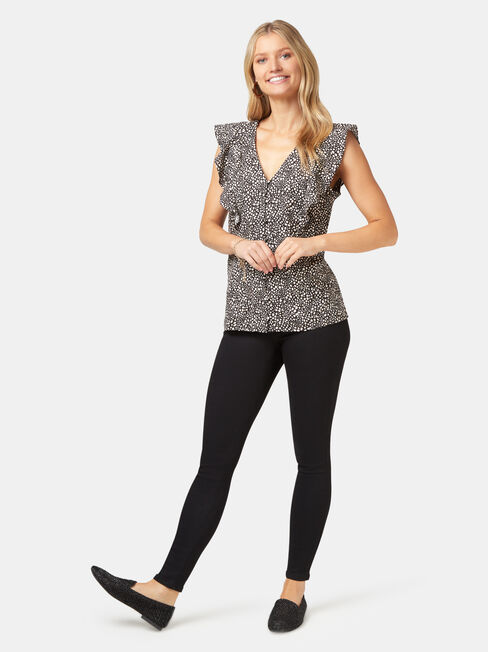 Penelope Linen Blend Top, Multi, hi-res