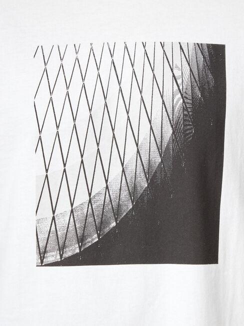 Smith Short Sleeve Print Crew Tee, White, hi-res