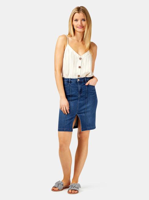 Penelope Summer Touch Skirt, Blue, hi-res