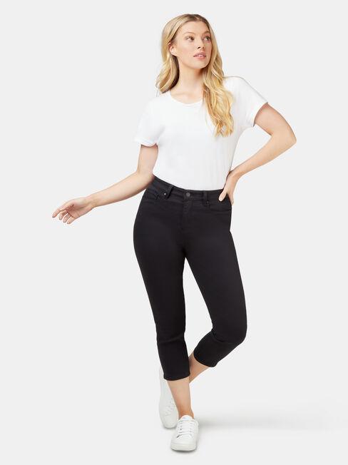 Kara Curve Embracer skinny capri, Black, hi-res