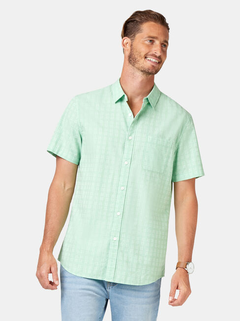 Leon Short Sleeve Textured Shirt