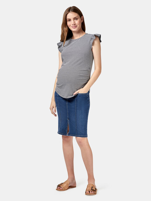 Penelope Maternity Skirt, Blue, hi-res