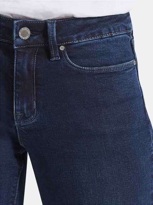 Slim Straight Jeans Deep Sea Blue, Dark Indigo, hi-res
