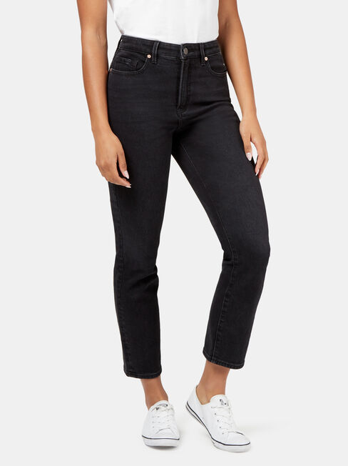 Tammy High Waisted Straight Crop, Black, hi-res
