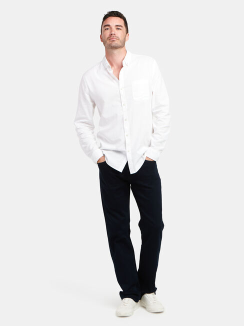Brody Long Sleeve Textured Shirt, White, hi-res