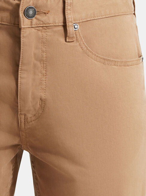 Slim Tapered Jeans Tobacco, Coloured, hi-res